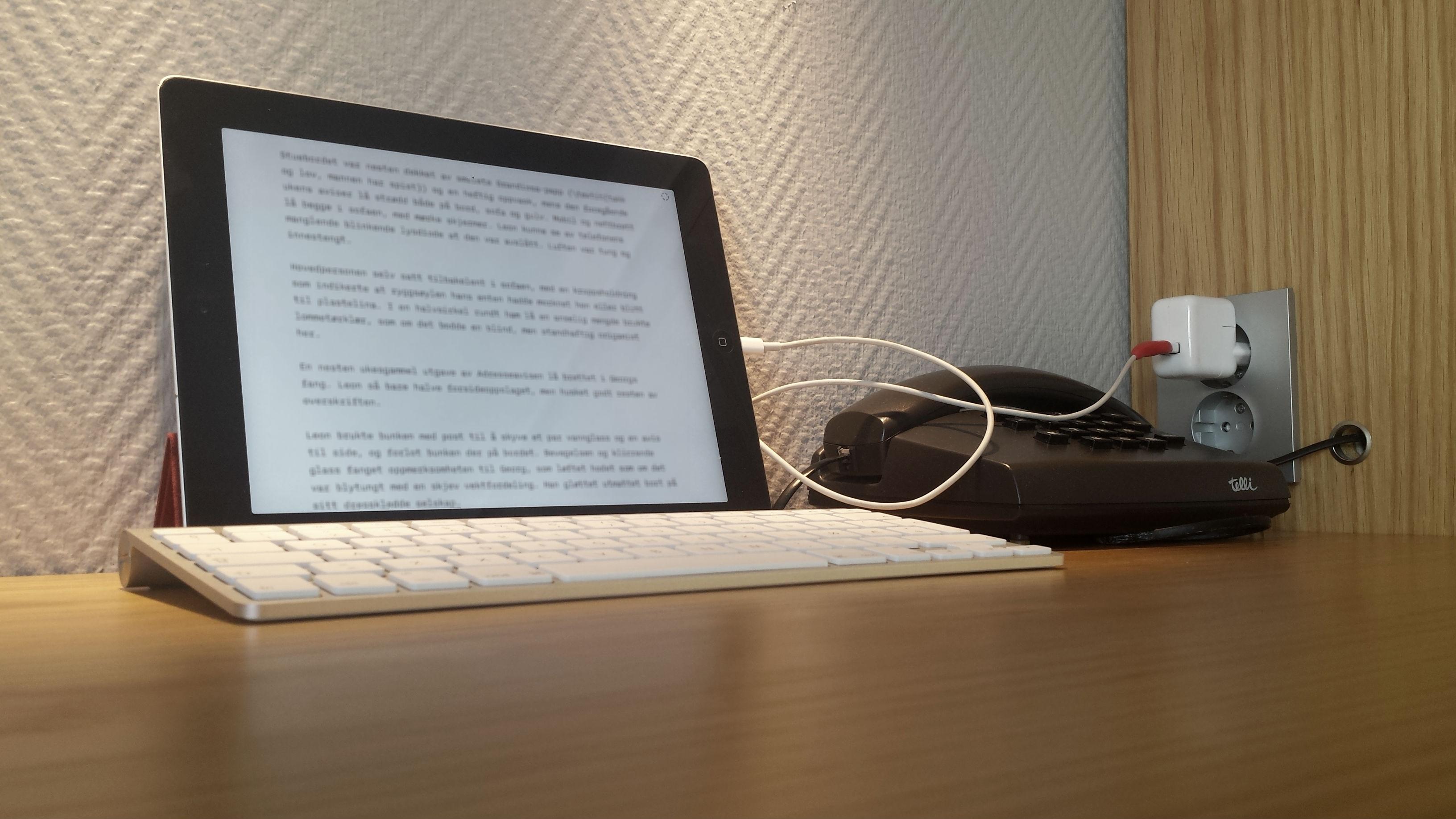 Skriveøkt på hotell