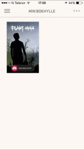 Min bokhylle i appen Ebok.no på iPhone