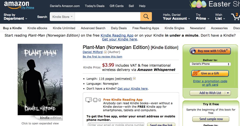 Kjøpe e-bok på Amazon