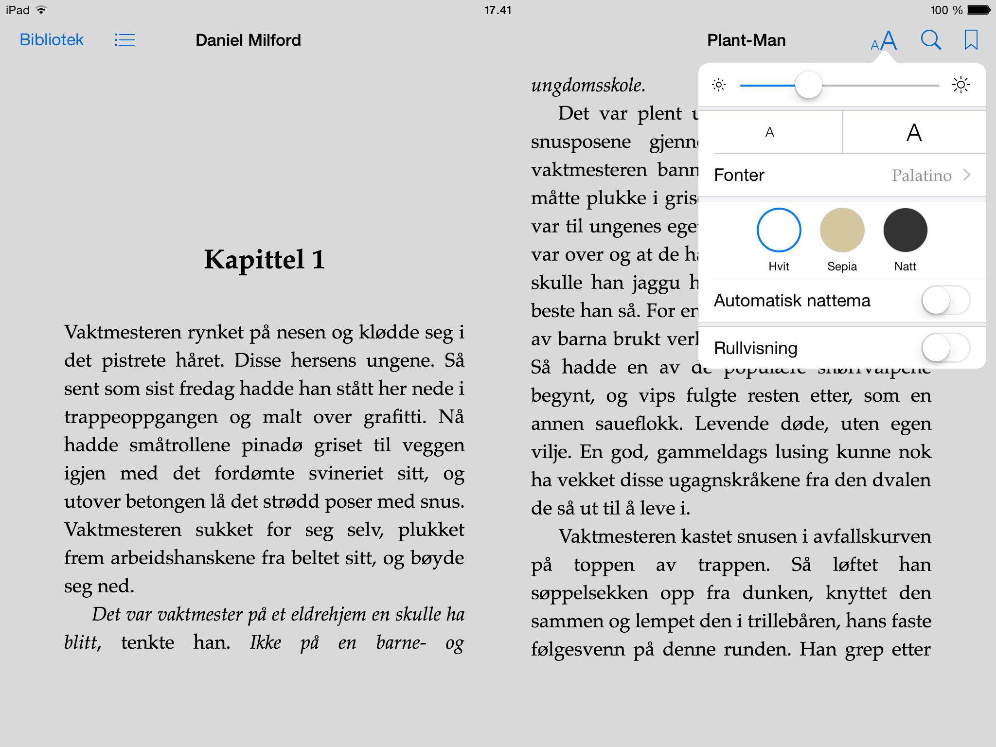Lesing av bøker i iBooks