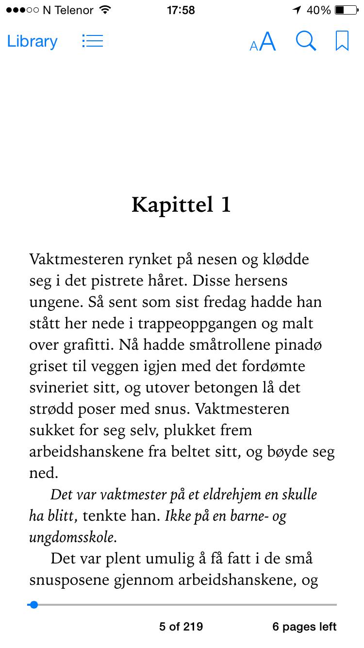 iBooks-bok på iPhone
