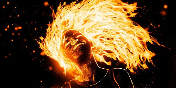 brennende hår