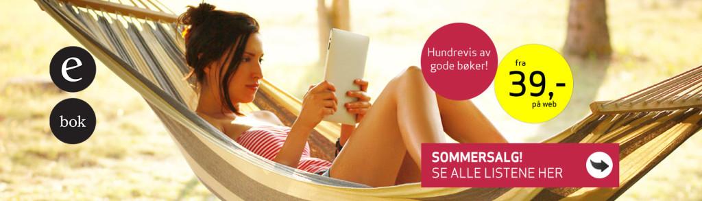 Ebok.nos reklame for eget sommersalg