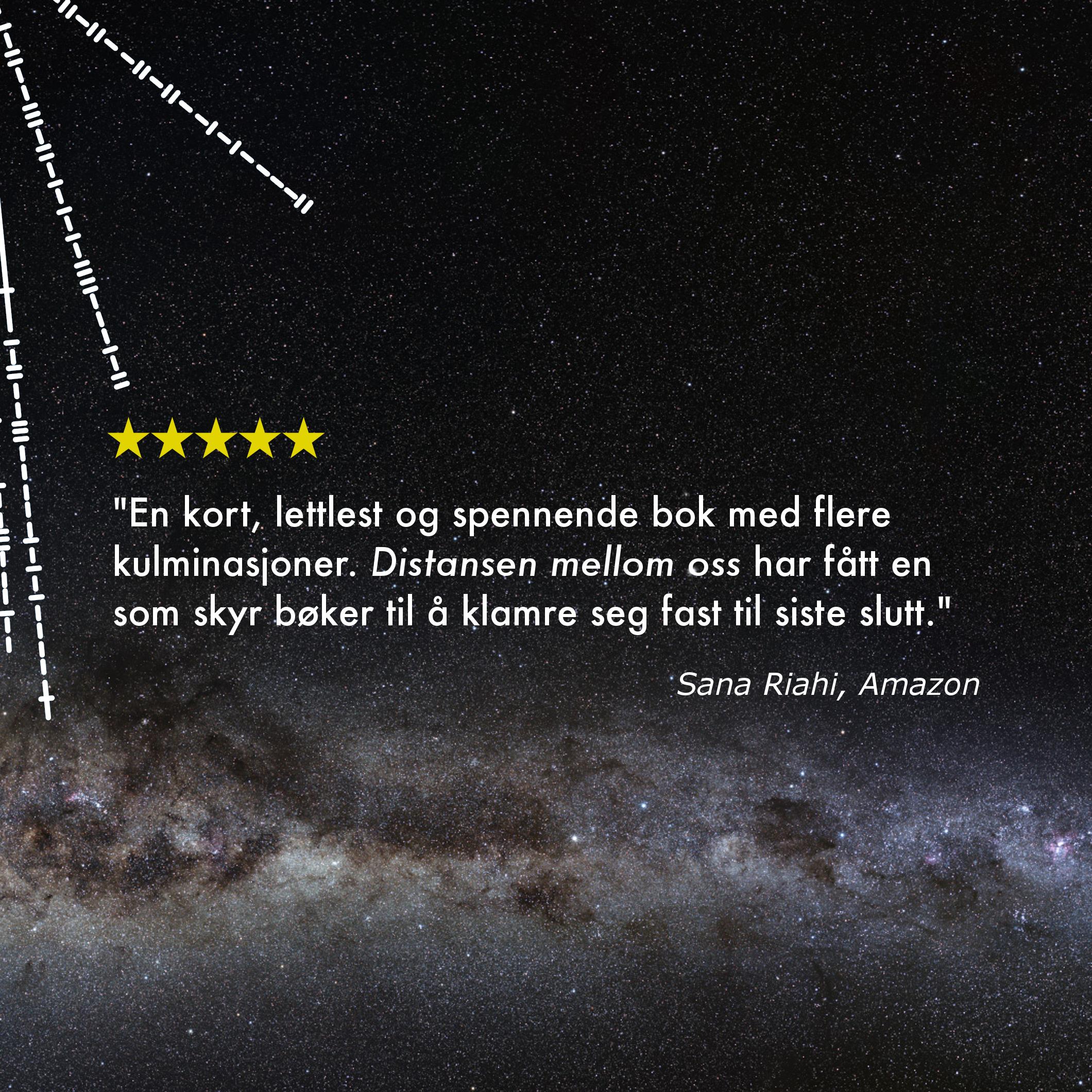 Distansen mellom oss – Amazon-anmeldelse